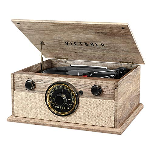 Victrola 4 In 1 Cambridge Farmhouse Modern Bluetooth